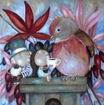 Linnet bird by Grzegorz Ptak