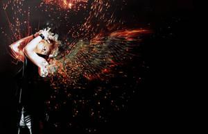 Minseok - Angel of Chaos by bubble-min
