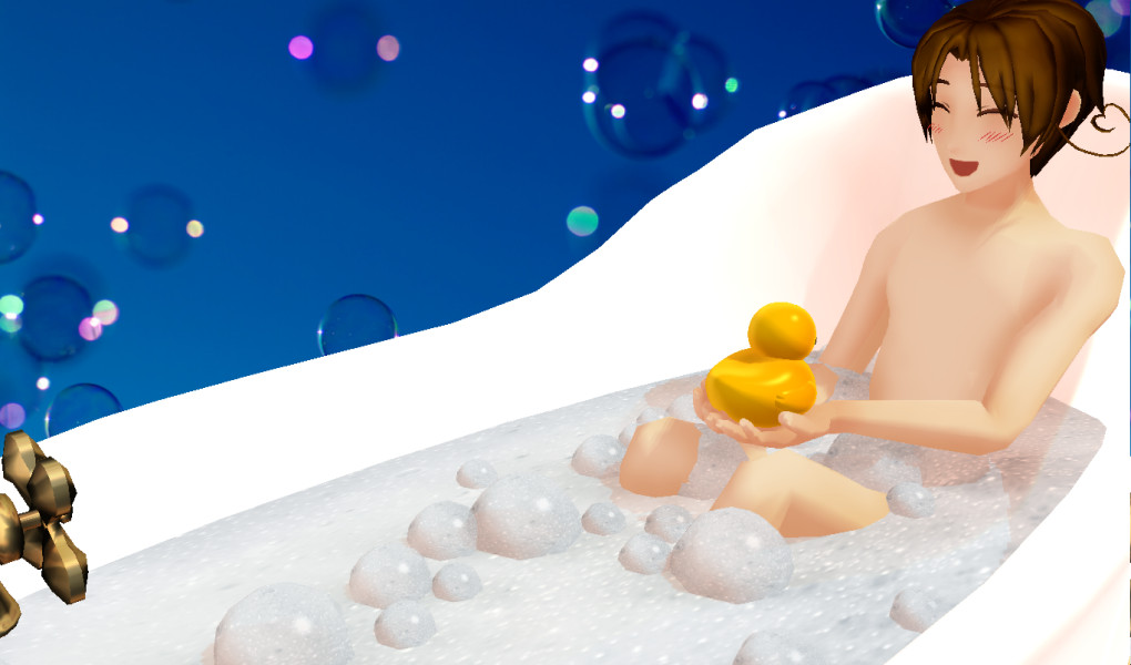 .: Feliciano's Bath Time :. by EpiclyAwesomePrussia