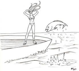 DSC Emma Frost goes fishing by oginmysoul