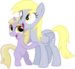 Derpy and Dinky Hugging and Smiling 2