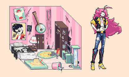A girl and her room