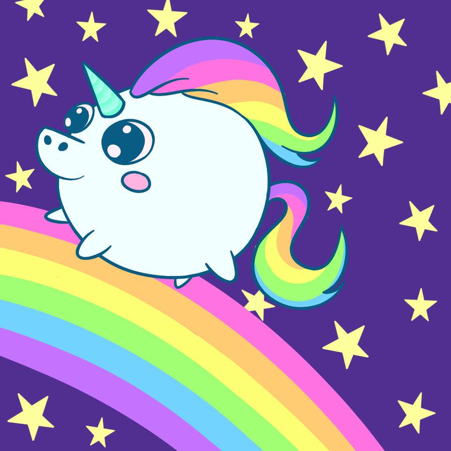 Fatty Cute Unicorn. by CherryLove9 on DeviantArt