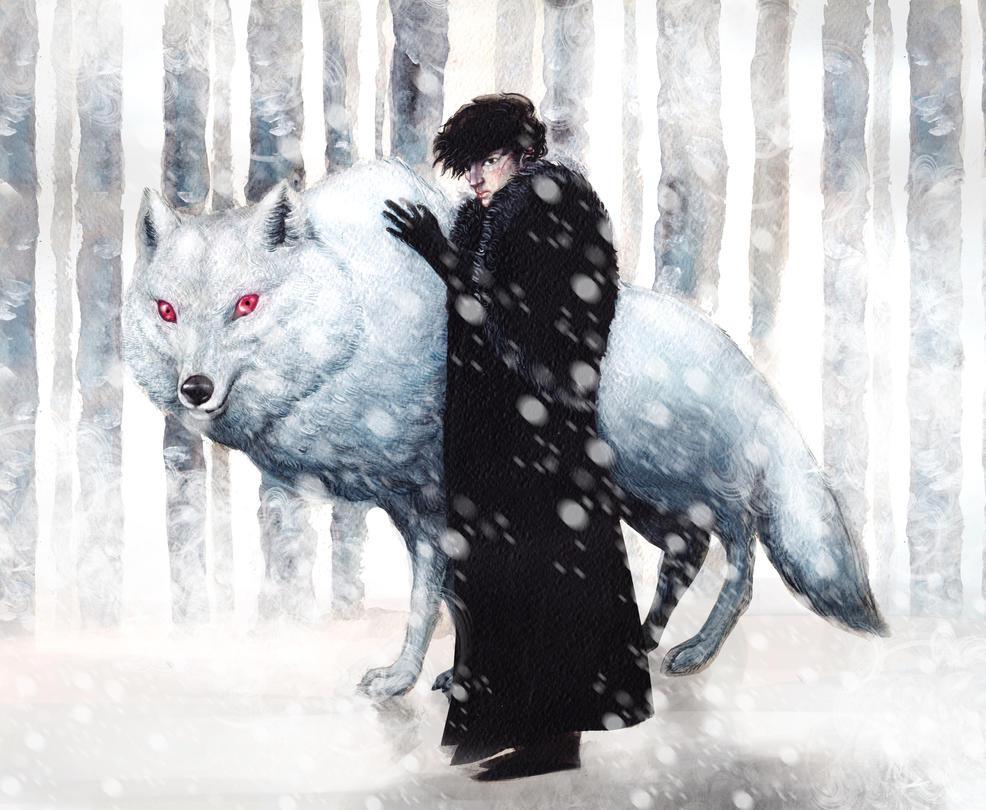 Jon Snow And Ghost By Darkalia On DeviantArt
