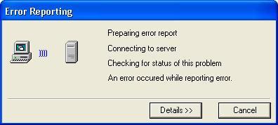 Error Reporting Error