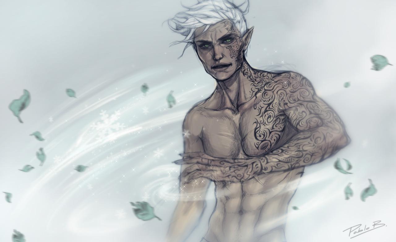 Rowan Whitethorn character art