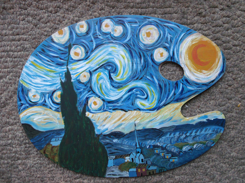 Paint Palette Starry Night By EyeAmLove