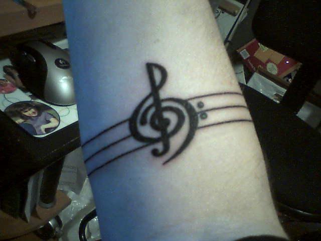 Treble bass clef