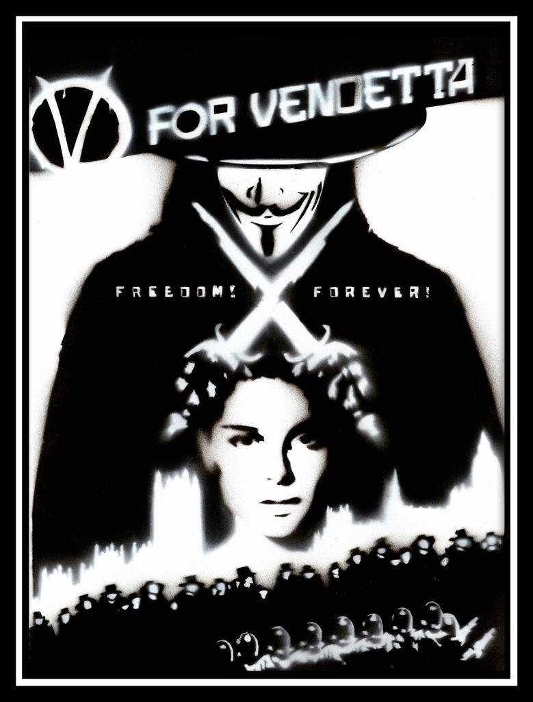 V For Vendetta Stencil by  V For Vendetta Stencil