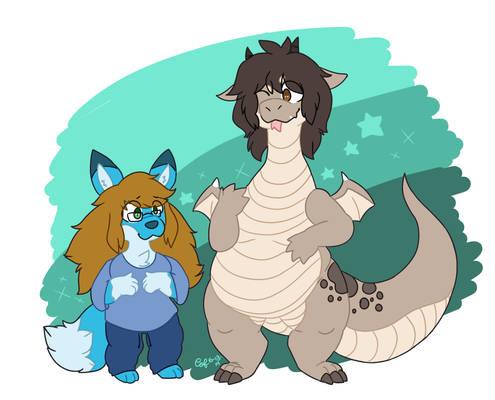 Bubb Fox and Copp Dragon!