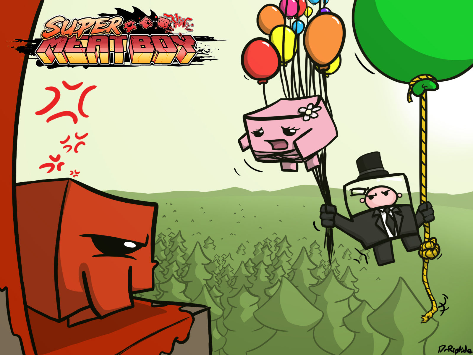 Super Meat Boy wallpaper by DrRiptide