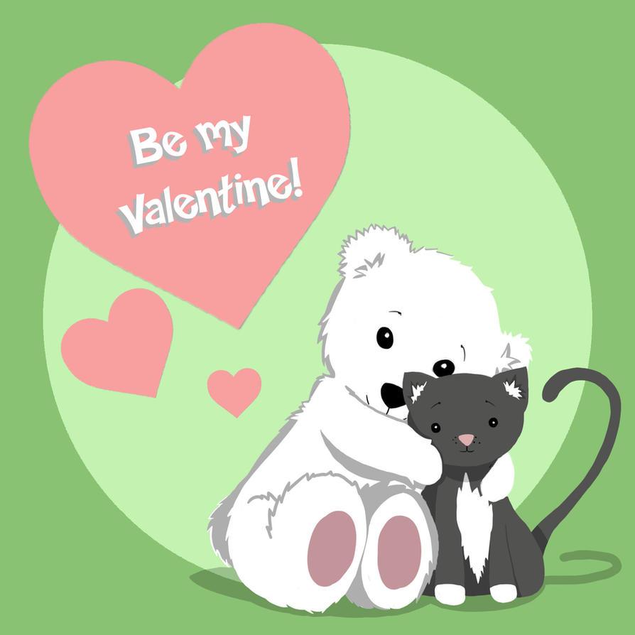 Polar Bear Valentine - Valentines Day Exchange by rochellejoy