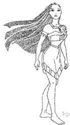Pocahontas Calligram by Quing