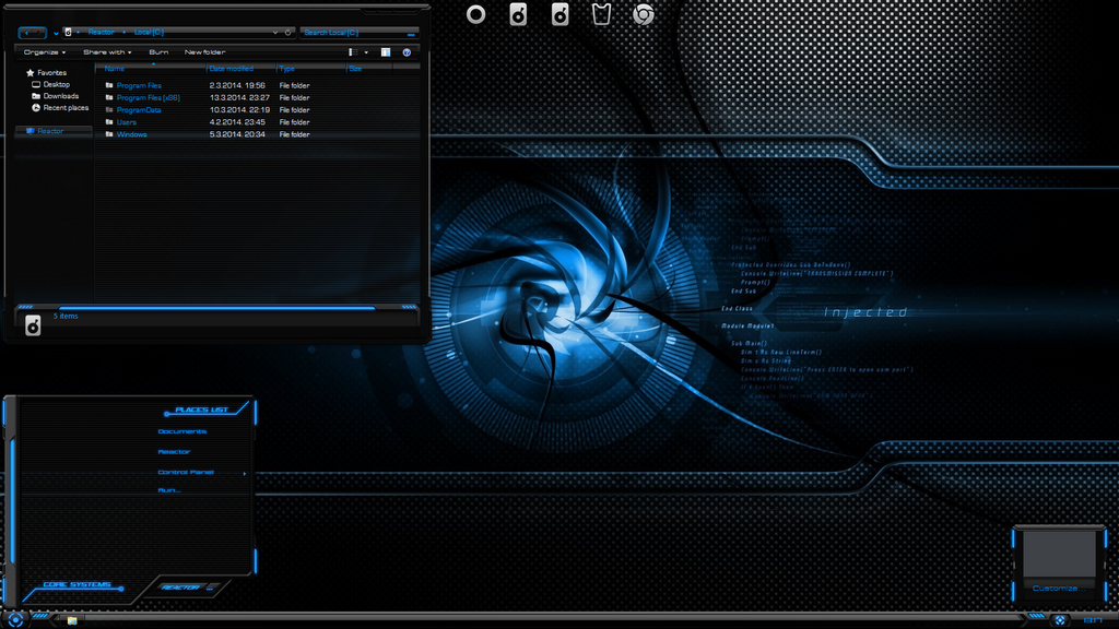 free  HUD Evolution Premium Windows 7 Theme x64