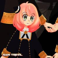Anya from SpyxFamily by RainTrevil