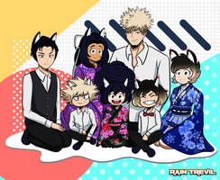 MayFlower and Bakugou's Family by RainTrevil
