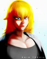 Semi-Realistic Muscular Woman by RainTrevil