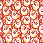 Bird Pattern Red