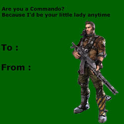 Valentine Card meme: Commando by Odd5