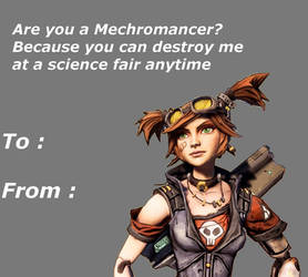 Valentine Card meme: Mechromancer by Odd5