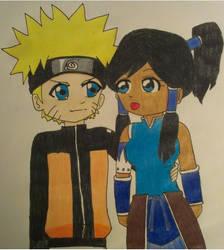 Naruto and Korra by neko26