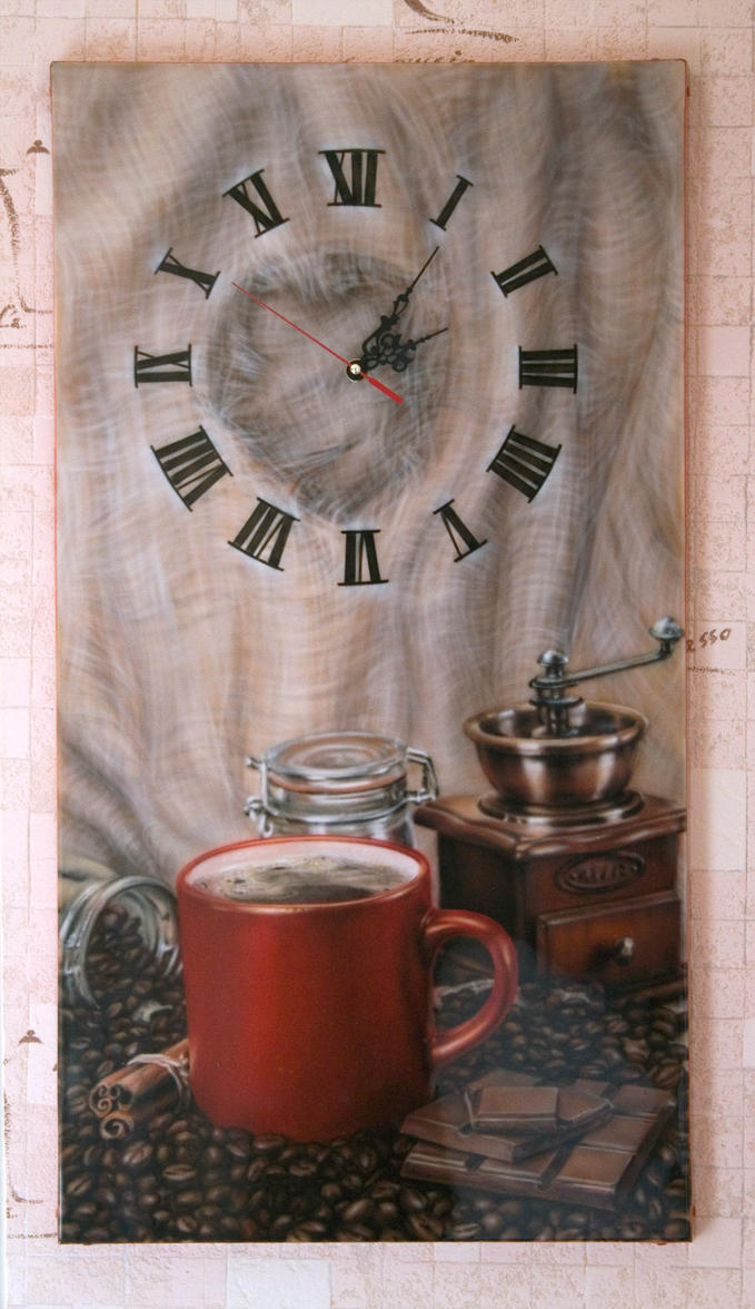coffee clock by hotabych