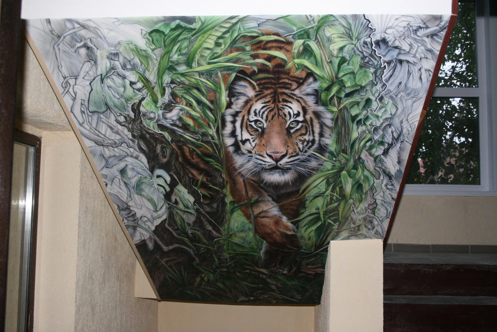 tiger from jungle by hotabych