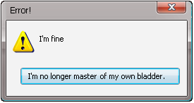 Error Message: I'm the Master by Addicted-Squared