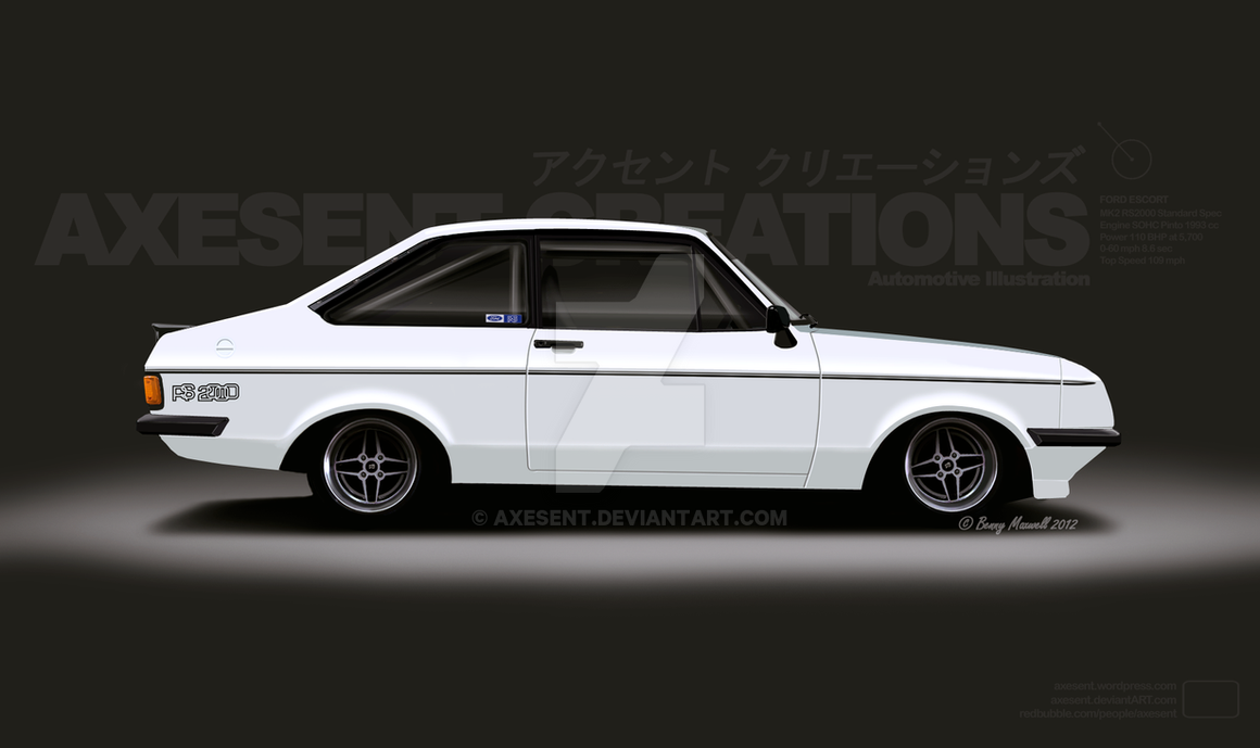 1976 Ford Escort RS2000 MK2 by Axesent on DeviantArt