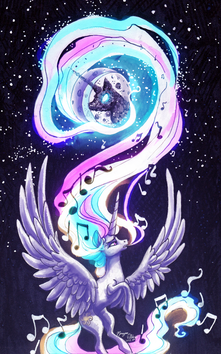 MLP Drawing - Let My Song Take Flight by Royal-Serpent