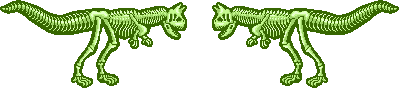 Pixel Divider - Lime Carnotaurus