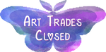 Moth Stamp - Art Trades Closed by Moth-Doll