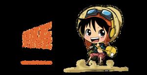 STRONG WORLD Chibi Luffy