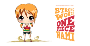 STRONG WORLD Sexy Chibi Nami by ChabeEscalant