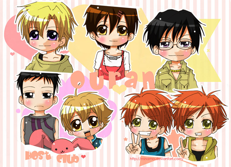 Ouran Host Club Chibi version. by ChabeEscalant on DeviantArt