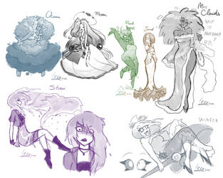 Messed Up Sketch Dump by Kaelva