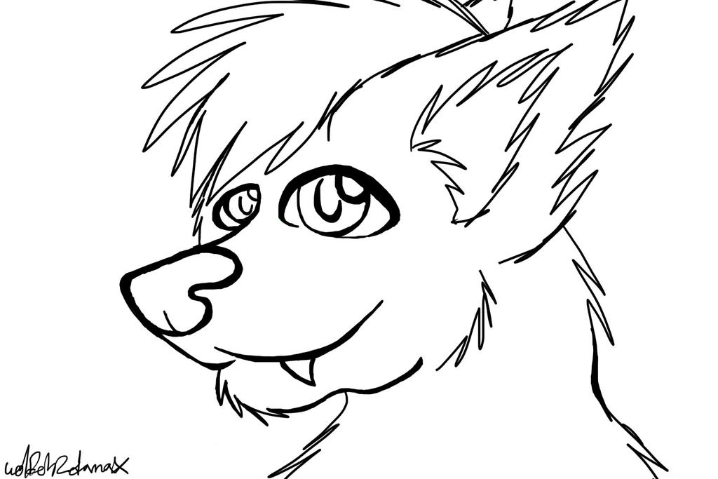 Wolf face coloring - photo#18