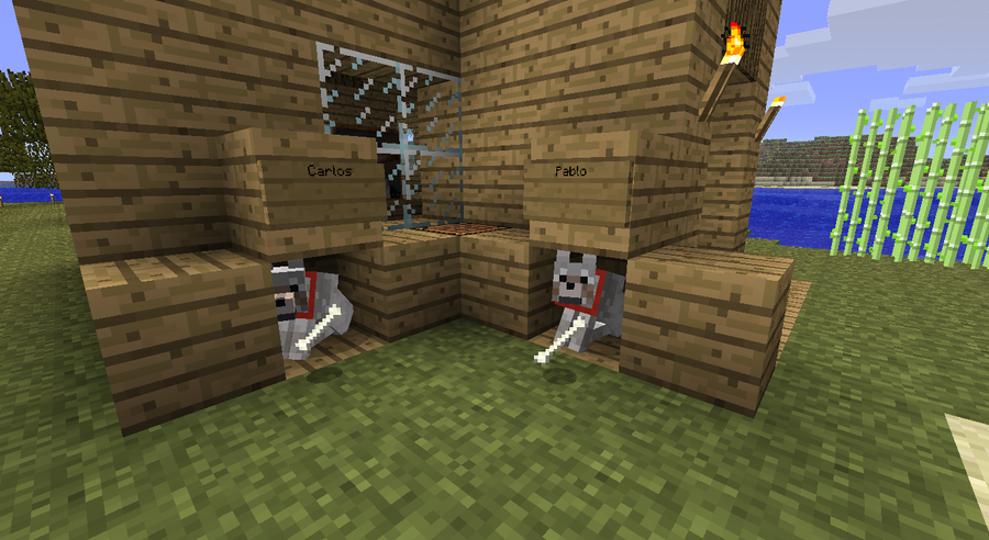 Minecraft Dogs their houses by Zman1995 on DeviantArt