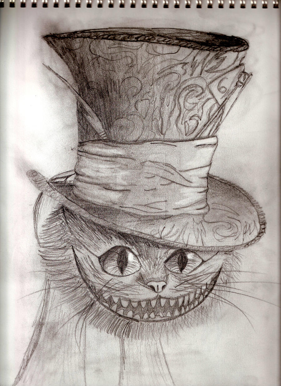 Cheshire Cat with Hatter's Hat by thedarkenedkeeper on ...