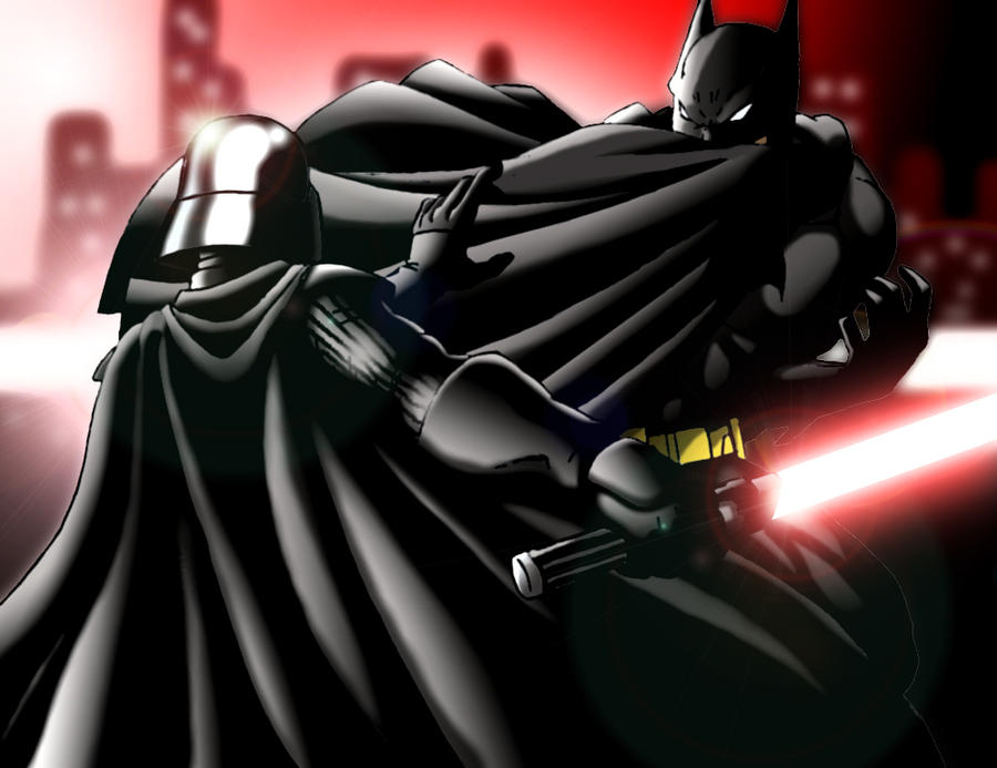 Batman vs Darth Vader by scorpmanx