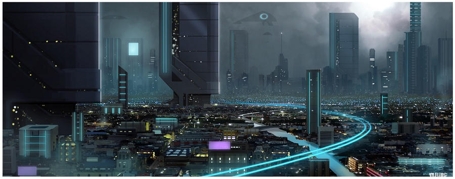 SCIFI CITY by MichaelBills