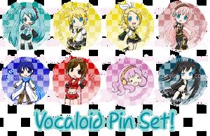 Vocaloid Pin Set by hikari--hoshi