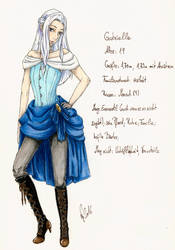 Gabrielle Charactersheet by VictoriaSaviles