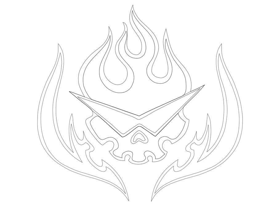 logo brigata gurren lagann lineart by kingMYSELF on DeviantArt