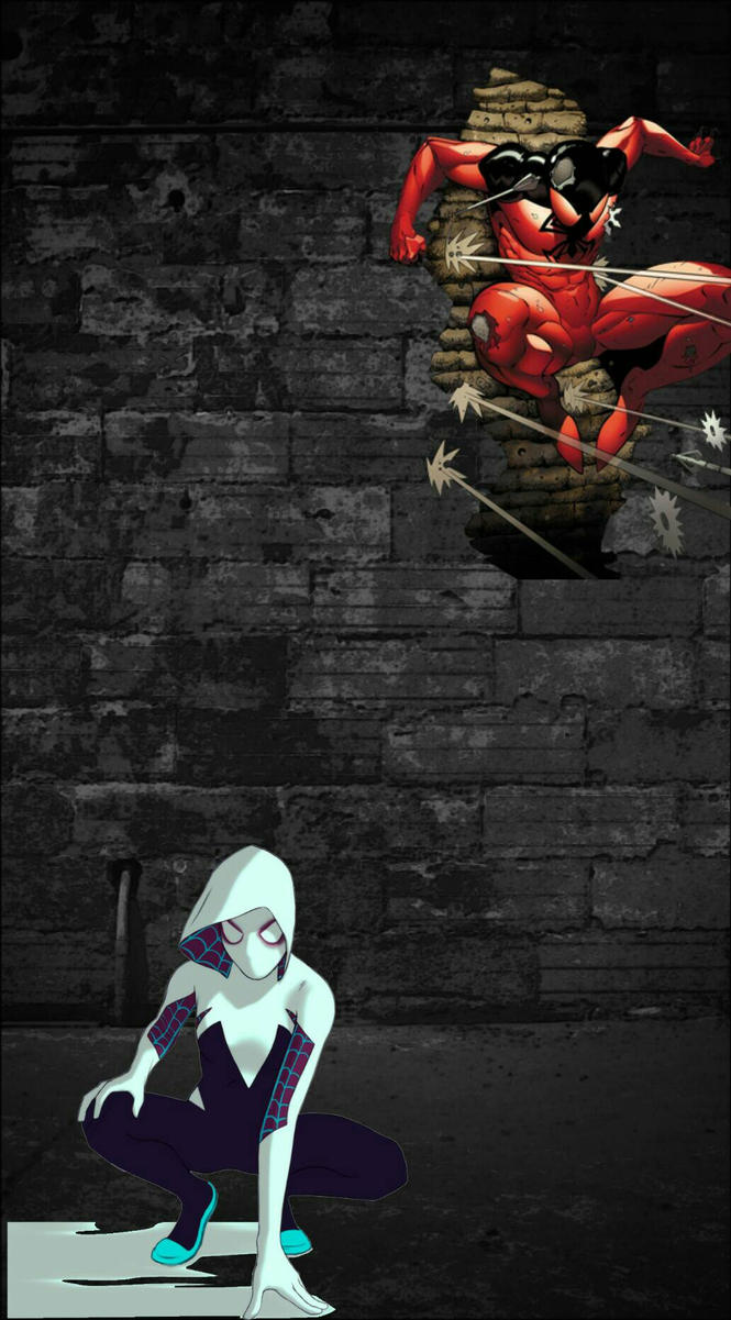 Scarlet Spider x Spider Gwen by darkestowl1