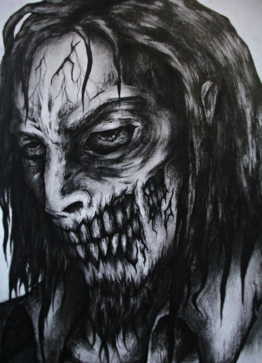 Zombie Face Line Drawing : Zombie face by carrybalder on deviantart