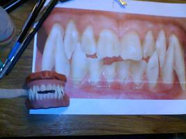 custom werewolf teeth by HobbyFX