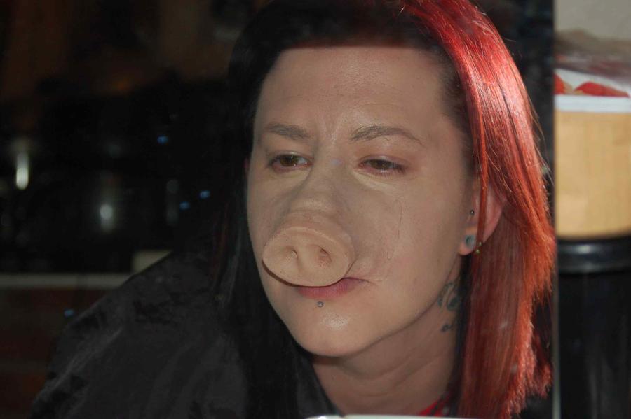 pig nose prosthetic by HobbyFX