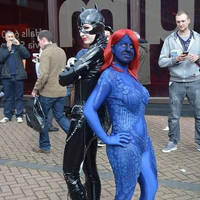 Catwoman and Mystique Cosplays