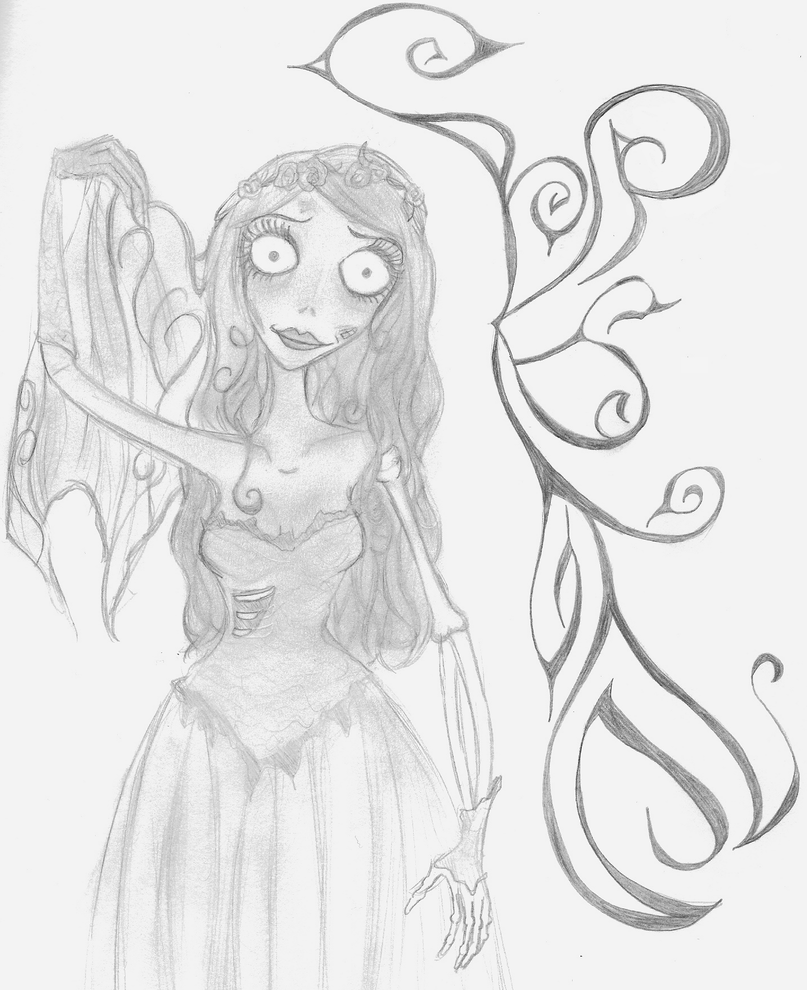 The Corpse Bride - Free Colouring Pages